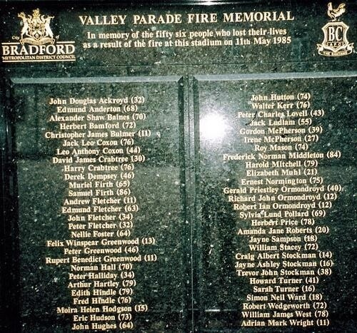 Tragedy at Valley Parade (2/2)